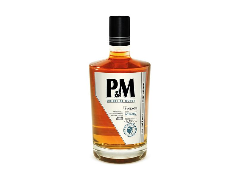 etiquette whisky P&m domaine mavela