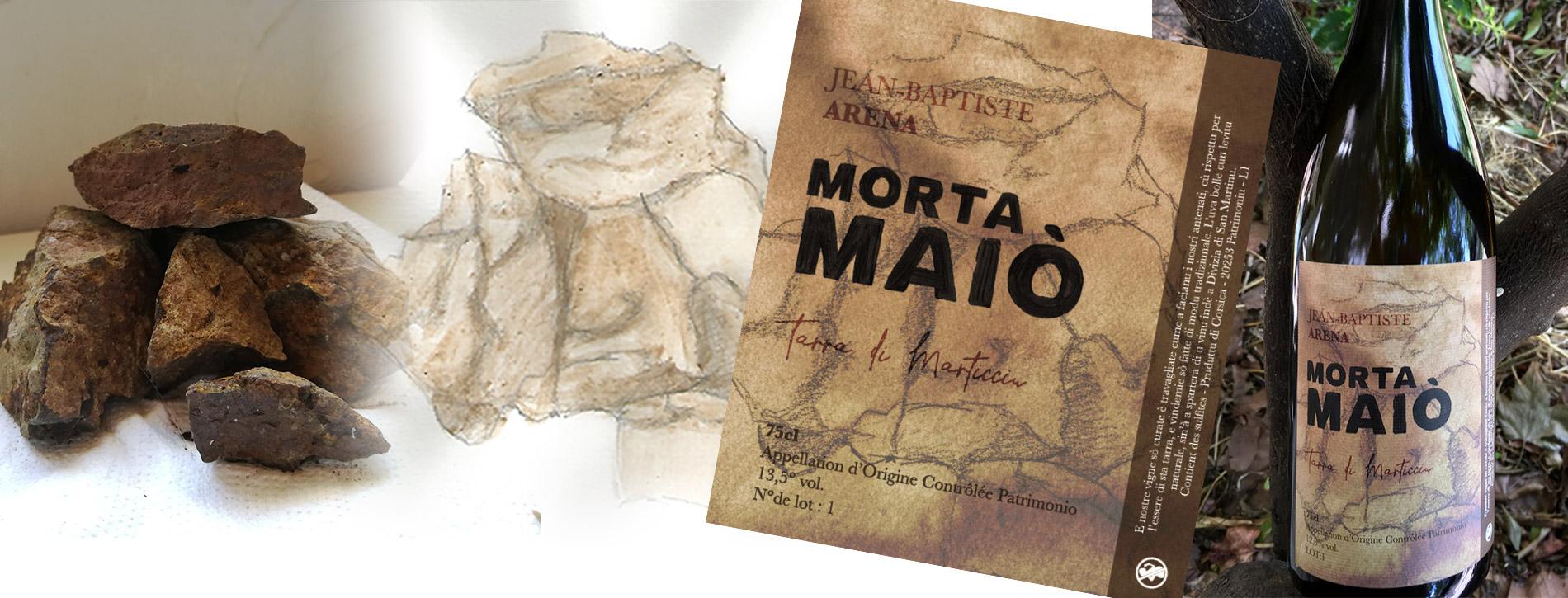Création étiquette vin corse Morta Maiò